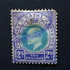 Sellos: NATAL . SELLO 2 SHILLINGS 1902 . GEORGE III . USADO. Lote 222317856