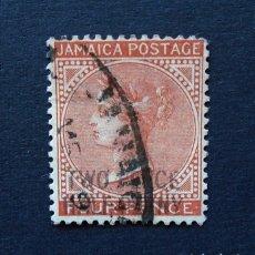 Sellos: JAMAICA - SELLO 4 PENIQUES 1883 . REINA VICTORIA . USADO. Lote 222306327