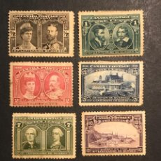 Sellos: CANADÁ 1908 CENTENARIO FUNDACIÓN QUEBEC. VALOR MAS DE 500€. Lote 226685105