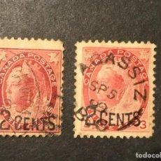 Sellos: CANADÁ 1899 SOBRECARGA. SERIE COMPLETA. Lote 226697067