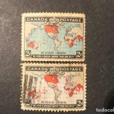 Sellos: CANADÁ 1898 NAVIDAD. SERIE COMPLETA. Lote 226697260