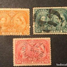 Sellos: CANADÁ 1897 LX ANIVERSARIO CORONACIÓN. Lote 226697467