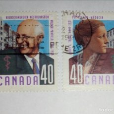 Sellos: CANADÁ 2 VALORES. USED. Lote 233016487