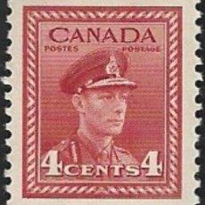 Sellos: FRANCOBOLLO - CANADA - KING GEORGE VI - 4 C - 1943 - USATO. Lote 236582780