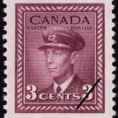 Sellos: FRANCOBOLLO - CANADA - KING GEORGE VI - 3 C - 1943 - USATO. Lote 236582785