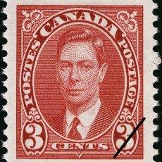Sellos: FRANCOBOLLO - CANADA - KING GEORGE VI - 3 C - 1937 - USATO. Lote 236582790