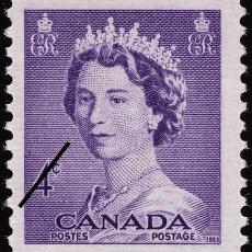 Sellos: FRANCOBOLLO - CANADA - QUEEN ELIZABETH II - 4 C - 1953 - USATO. Lote 236582810