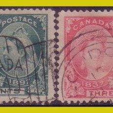 Sellos: CANADÁ, 1897 60º ANIVº REINA VICTORIA, IVERT Nº, 40 Y 41 (O). Lote 236633270