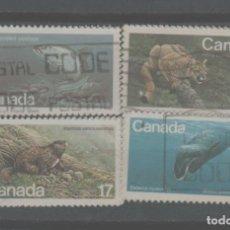 Sellos: LOTE (14) SELLOS CANADA FAUNA. Lote 240335465