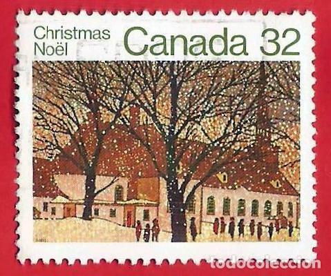 CANADA. 1983. NAVIDAD. IGLESIA URBANA (Sellos - Extranjero - América - Canadá)