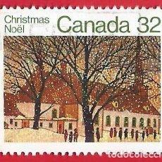 Sellos: CANADA. 1983. NAVIDAD. IGLESIA URBANA. Lote 241273210