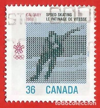 CANADA. 1987. JUEGOS OLIMPICOS CALGARY. PATINAJE DE VELOCIDAD (Sellos - Extranjero - América - Canadá)