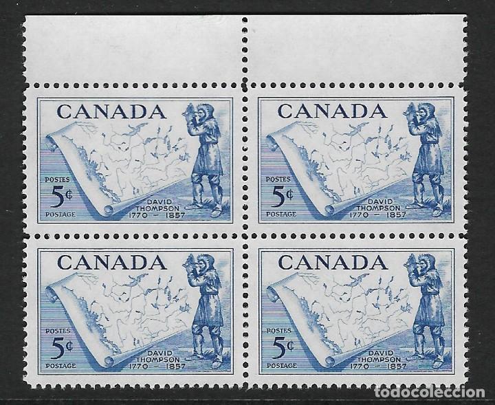 CANADÁ. YVERT Nº 297 EN BLOQUE DE 4 NUEVO (Sellos - Extranjero - América - Canadá)