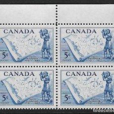 Sellos: CANADÁ. YVERT Nº 297 EN BLOQUE DE 4 NUEVO. Lote 241310175