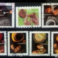 Sellos: CANADA OFICIOS TRADICIONALES SERIE DE SELLOS USADOS. Lote 242454415