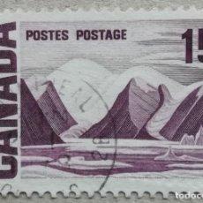 Sellos: 1967. CANADÁ. 385. MONTAÑA HELADA EN LA ISLA BYLOT Y BAC. USADO.. Lote 243391435
