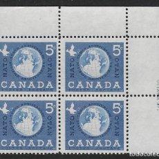 Sellos: CANADÁ. YVERT Nº 311 EN BLOQUE DE 4 NUEVO. Lote 245745130