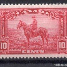 Sellos: CANADA/1935/MH/SC#223/ REAL POLICIA MONTADA CANADIENSE / CABALLOS / 10C ROSA CARMINE. Lote 252588110
