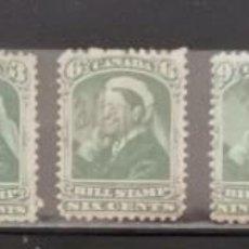 Sellos: CANADA : AÑOS 1800 ´.REINA VICTORIA, BILL STAMPS.CANCELADOS A MANO ,*,MH ,# 1.. Lote 253958955