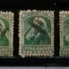 Sellos: CANADA : AÑOS 1800 ´.REINA VICTORIA, BILL STAMPS.CANCELADOS A MANO ,*,MH ,# 2. Lote 253959060