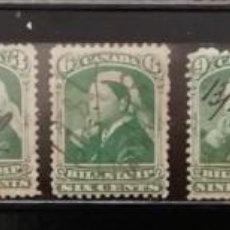 Sellos: CANADA : AÑOS 1800 ´.REINA VICTORIA, BILL STAMPS.CANCELADOS A MANO ,*,MH ,#4. Lote 253959265