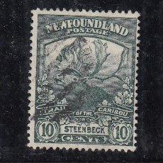 Sellos: TERRANOVA 107 USADA, FAUNA, REGRESO TROPAS DE TERRANOVA DE LA GUERRA 1914,. Lote 254166900