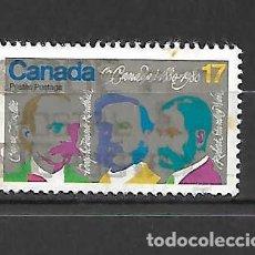 Sellos: COMPOSITORES DEL HIMNO NACIONAL. CANADÁ. SELLO AÑO1980. Lote 261595930
