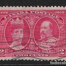 Sellos: CANADÁ - CLÁSICO. YVERT Nº 87 USADO Y DEFECTUOSO. Lote 262013990