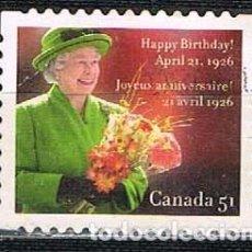 Sellos: CANADA 2646, 80º ANIVERSARIO DEL NACIMIENTO DE ISABEL II, NUEVO. Lote 263199830