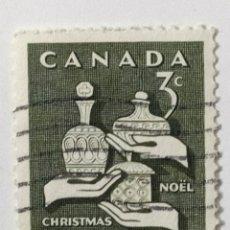 Sellos: SELLO DE CANADA 3 C - 1965 - NAVIDAD - USADO SIN SEÑAL DE FIJASELLOS. Lote 270090248