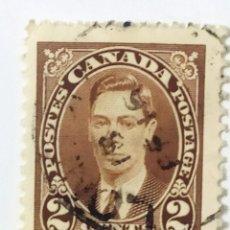 Sellos: SELLO DE CANADA 2 C - JORGE VI - USADOS SIN SEÑAL DE FIJASELLOS. Lote 270102923