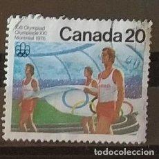 Francobolli: SELLO DE CANADA OLIMPIADA MONTREAL 1976 (MATASELLADO). Lote 276663583