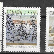 Sellos: SELLOS USADOS DE CANADA 1989, YT 1116/ 18, FOTO ORIGINAL. Lote 279358388