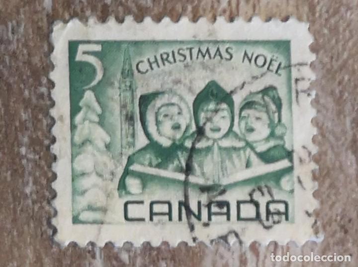 SELLOS USADOS CANADA - N A V I D A D AÑO 1967 NOEL (Sellos - Extranjero - América - Canadá)