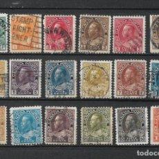 Sellos: CANADA 1911-25 SCOTT NOS. 104-122 (18) SERIE COMPLETA 54$ - 15/41. Lote 288745358