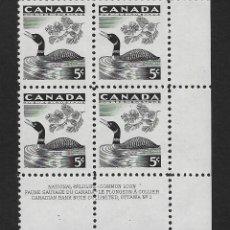 Sellos: CANADÁ. YVERT Nº 296 EN BLOQUE DE 4 NUEVO. Lote 289492583