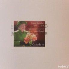 Sellos: CANADA SELLO USADO. Lote 295303823