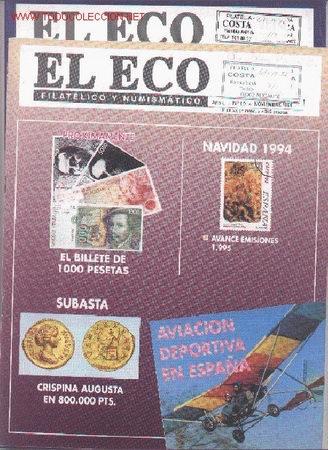 17-76. REVISTA ECO FILATÉLICO Nº 1014 Y 1015 (Filatelia - Sellos - Catálogos y Libros)
