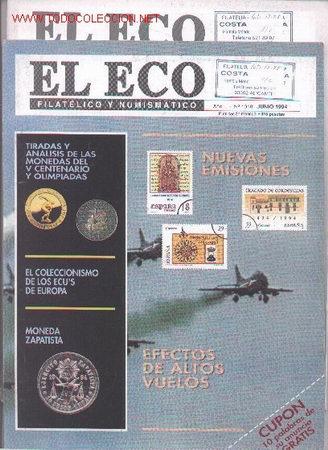 17-78. REVISTAS ECO FILATÉLICO Nº 1009 Y 1010 (Filatelia - Sellos - Catálogos y Libros)