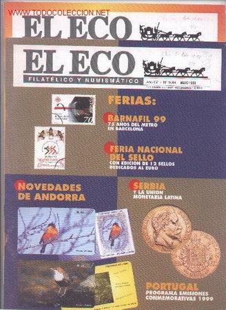 17-52. REVISTAS ECO FILATÉLICO Nº 1064 Y 1076 (Filatelia - Sellos - Catálogos y Libros)