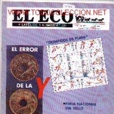 Sellos: 17-247. REVISTA ECO FILATÉLICO Y NUMISMÁTICO Nº 1021. Lote 276163