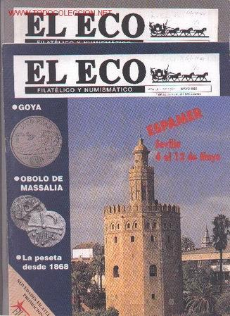 17-65. REVISTAS ECO FILATÉLICO Y NUMISMATICO (Filatelia - Sellos - Catálogos y Libros)