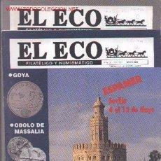 Sellos: 17-65. REVISTAS ECO FILATÉLICO Y NUMISMATICO. Lote 2941365