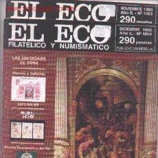 Sellos: 17-72. REVISTAS ECO FILATÉLICO Y NUMISMÁTICO. Lote 2909517