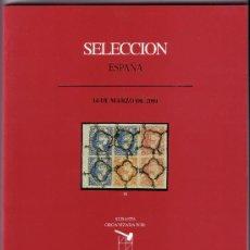 Sellos: CATÁLOGO SUBASTA FILATELIA * SOLER & LLACH/SELECCIÓN * (14 DE MARZO DE 2001). A COLOR. NUEVO. RR.. Lote 26700716