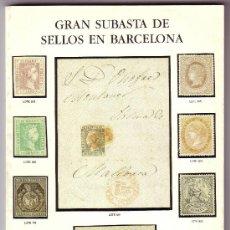 Sellos: CATÁLOGO SUBASTA DE F. C. ENSEÑAT Y F. DEL TARRÉ (5 DE MARZO DE 1987). INTERESANTE Y NUEVO.MUY RARO.. Lote 25122858
