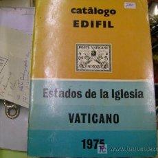 Sellos: CATALOGO EDIFIL SELLOS 1975 VATICANO. Lote 5042634