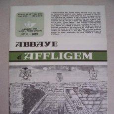Sellos: CATALOGO DE CORREOS DE BELGICA CON MOTIVO DE EMISION DE SERIE: ABBAYE D'AFFLIGEM Y ST JEAN BERCHMANS. Lote 6411745