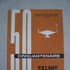 Sellos: CATALOGO DE CORREOS DE BELGICA CON MOTIVO DE EMISION DE SERIE: TALBOT HOUSE, 1965 NUM 13. Lote 6411774