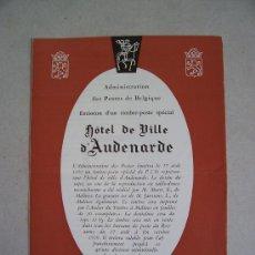 Sellos: CATALOGO DE CORREOS DE BELGICA CON MOTIVO DE EMISION DE SERIE: HOTEL DE VILLE D'AUDENARDE. Lote 6411838